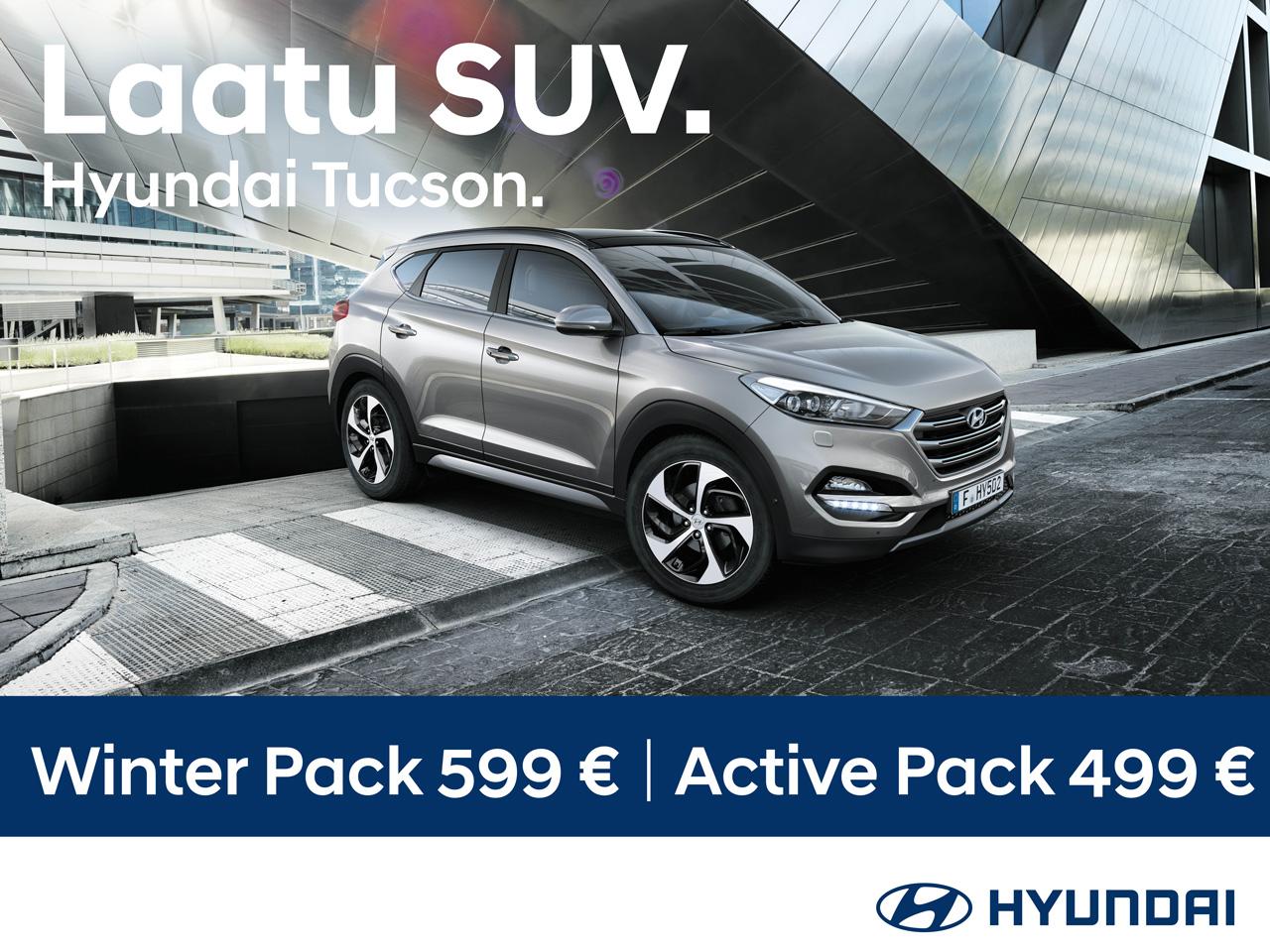 Hyundai Tucsonin ostajalle varusteita etuhintaan