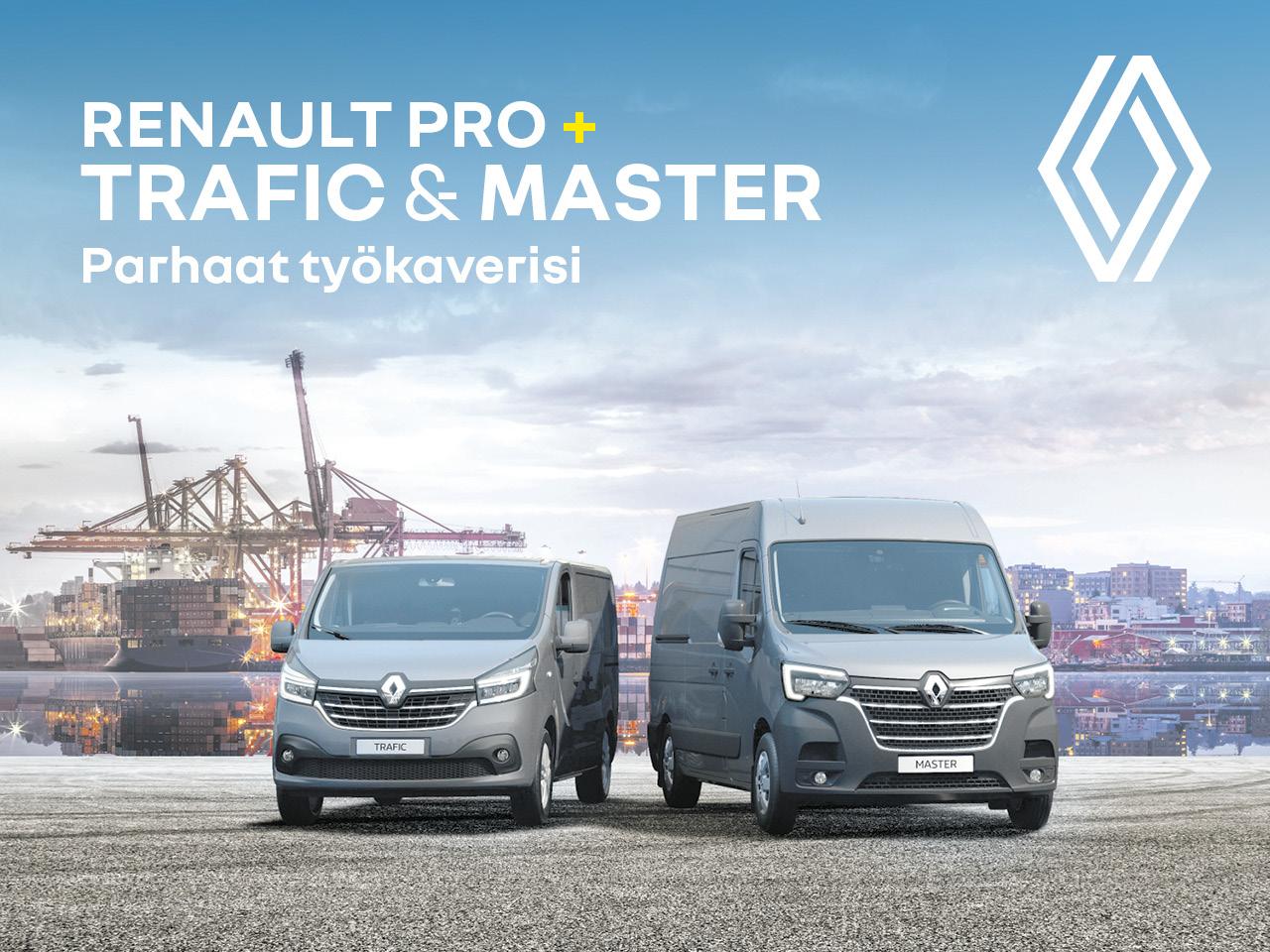 Edut Renault TRAFIC ja MASTER -mallistoon