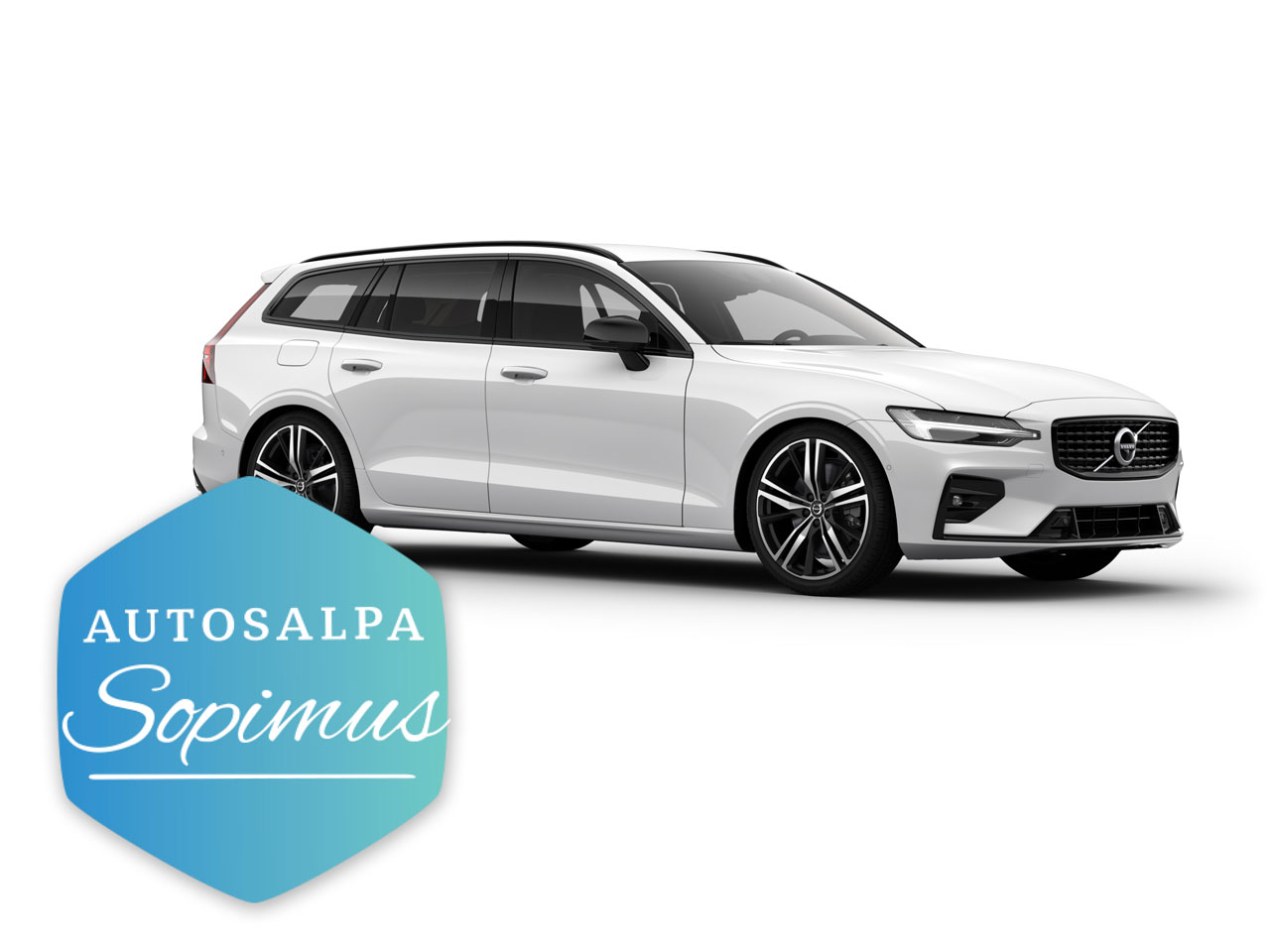 Volvo V60 T6 TwE esim. 649 €/ kk