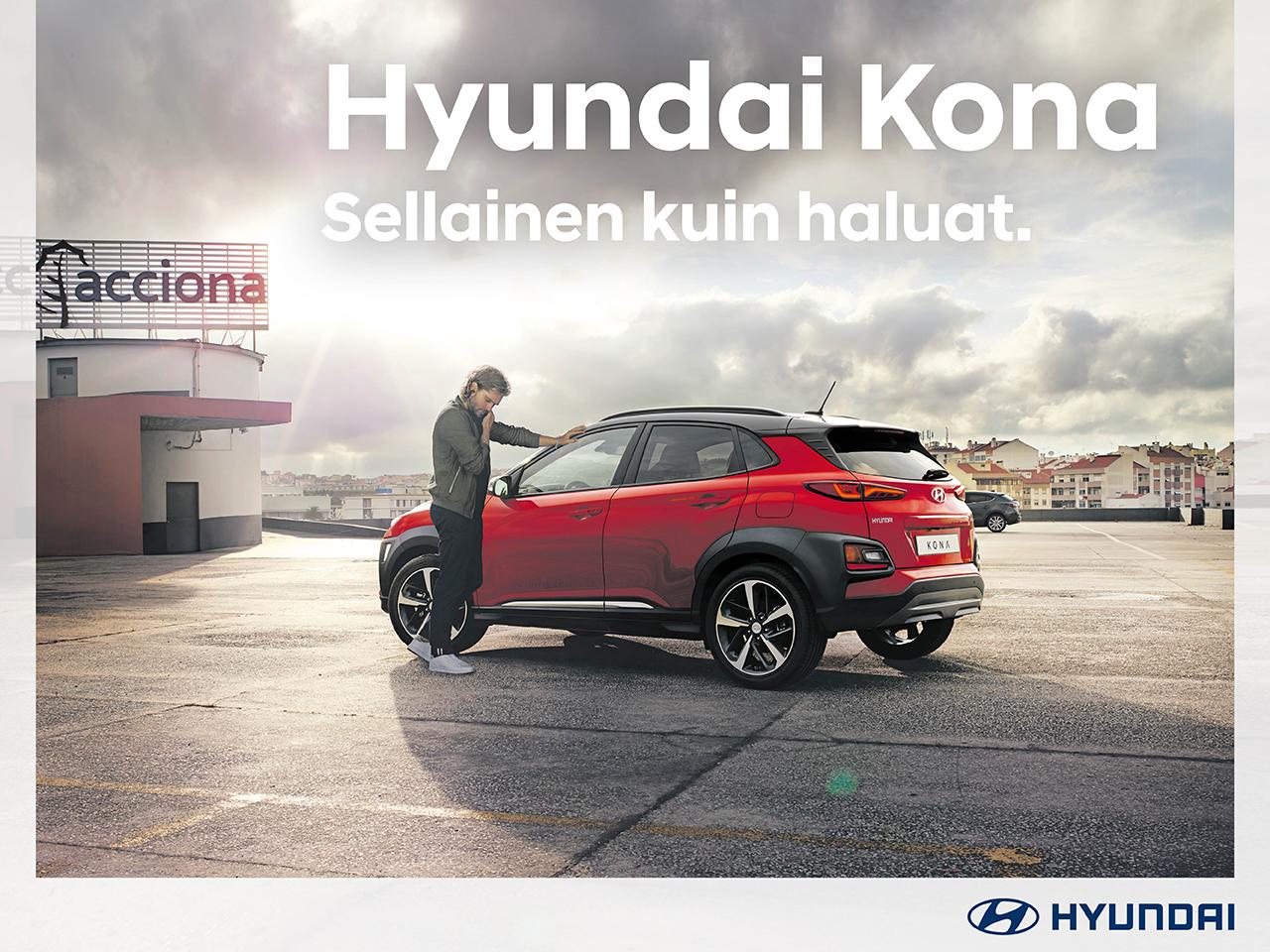 Hyundai Kona - metalliväri kaupan päälle