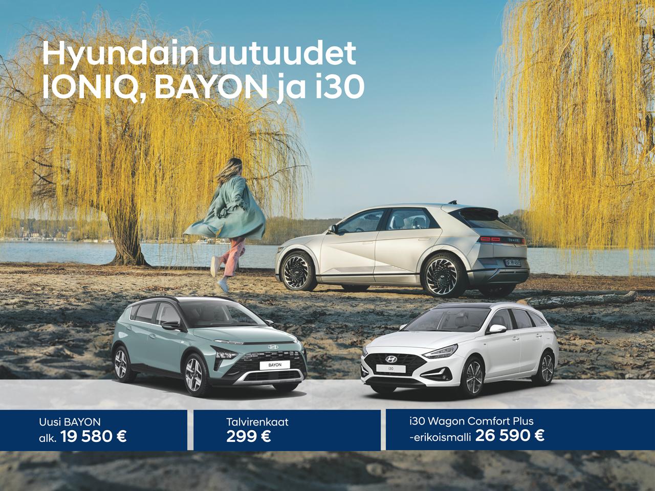 Tervetuloa tutustumaan Hyundain uutuuksiin