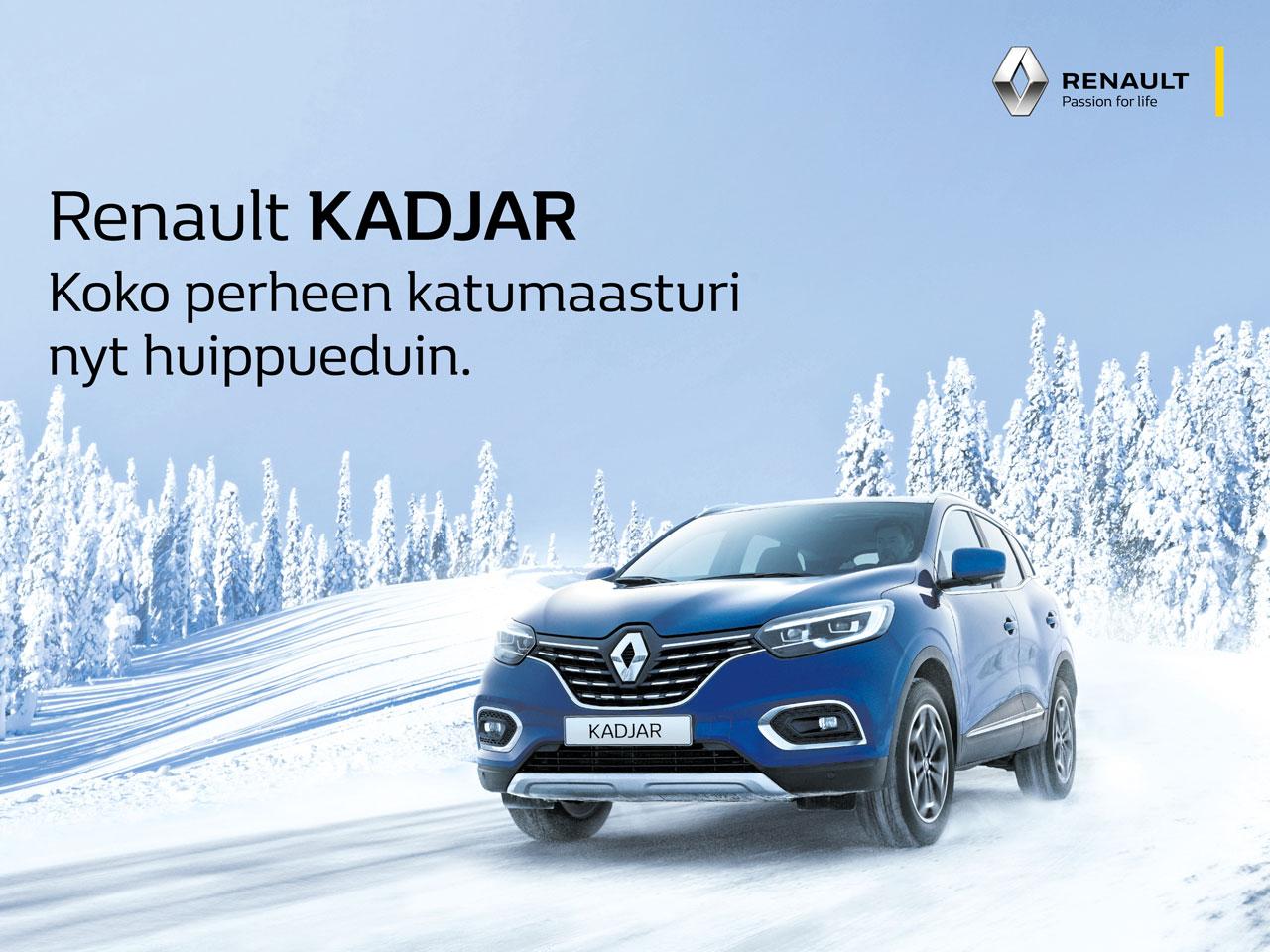 Renault Kadjar: talvirengaspaketti veloituksetta
