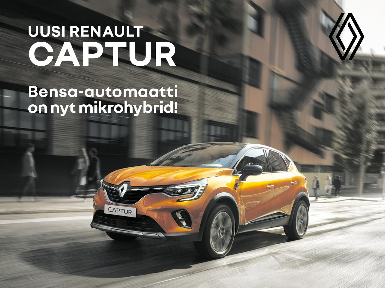 Renault Captur - bensa-automaatti on nyt mikrohybridi!