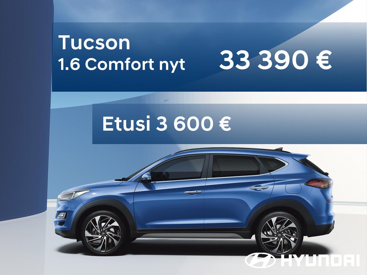 Hyundai Tucson automaatti etuhintaan vain nopeille!