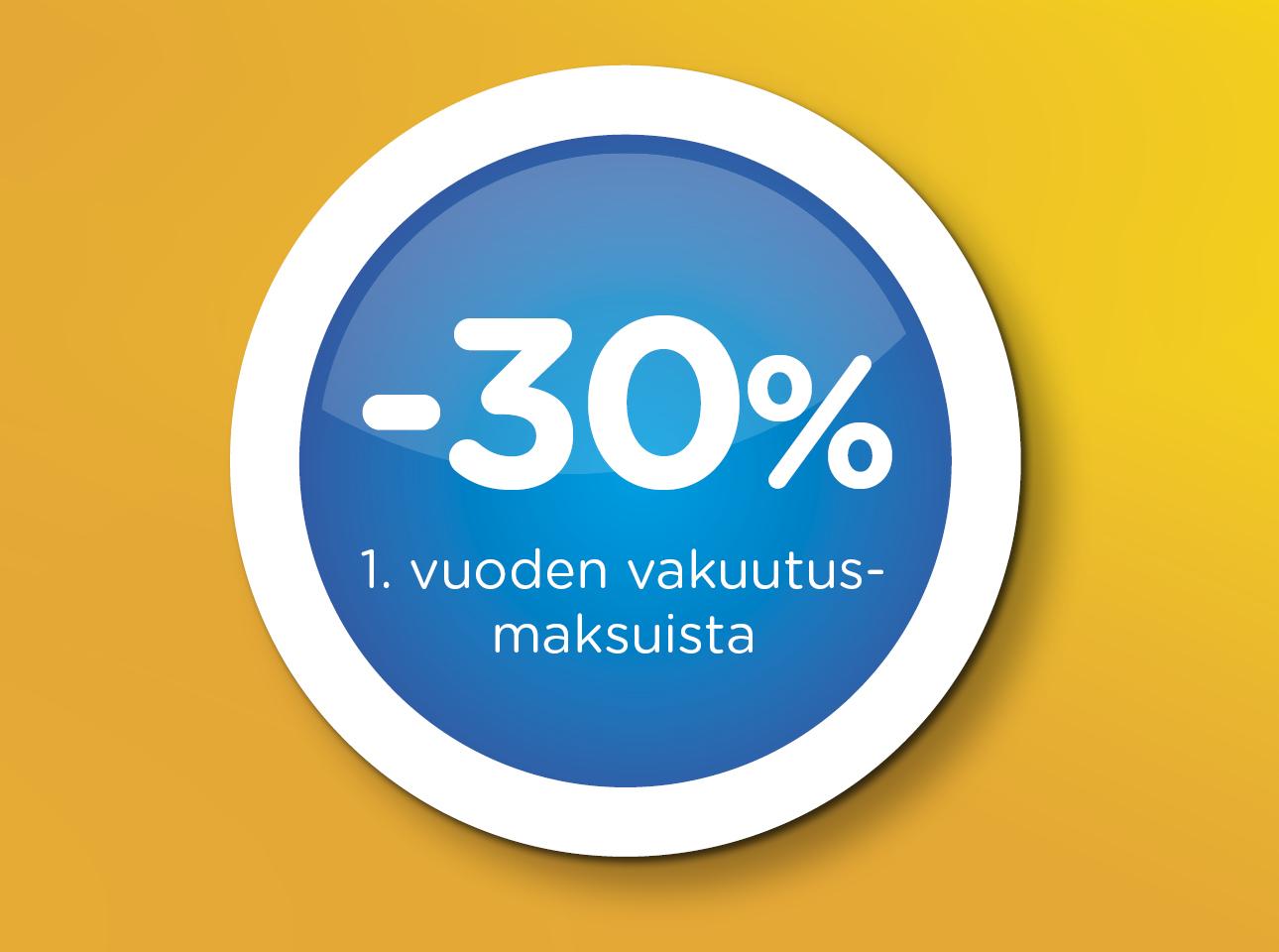 1. vuoden Kaskovakuutus - 30 %