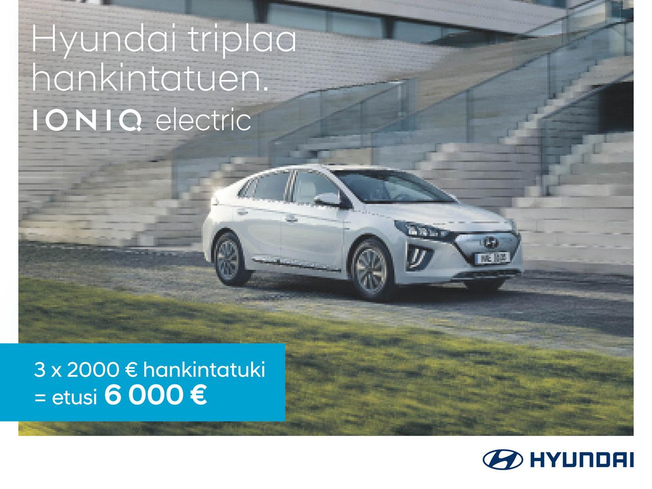 Hyundai IONIQ Electric: triplaa hankintatuki