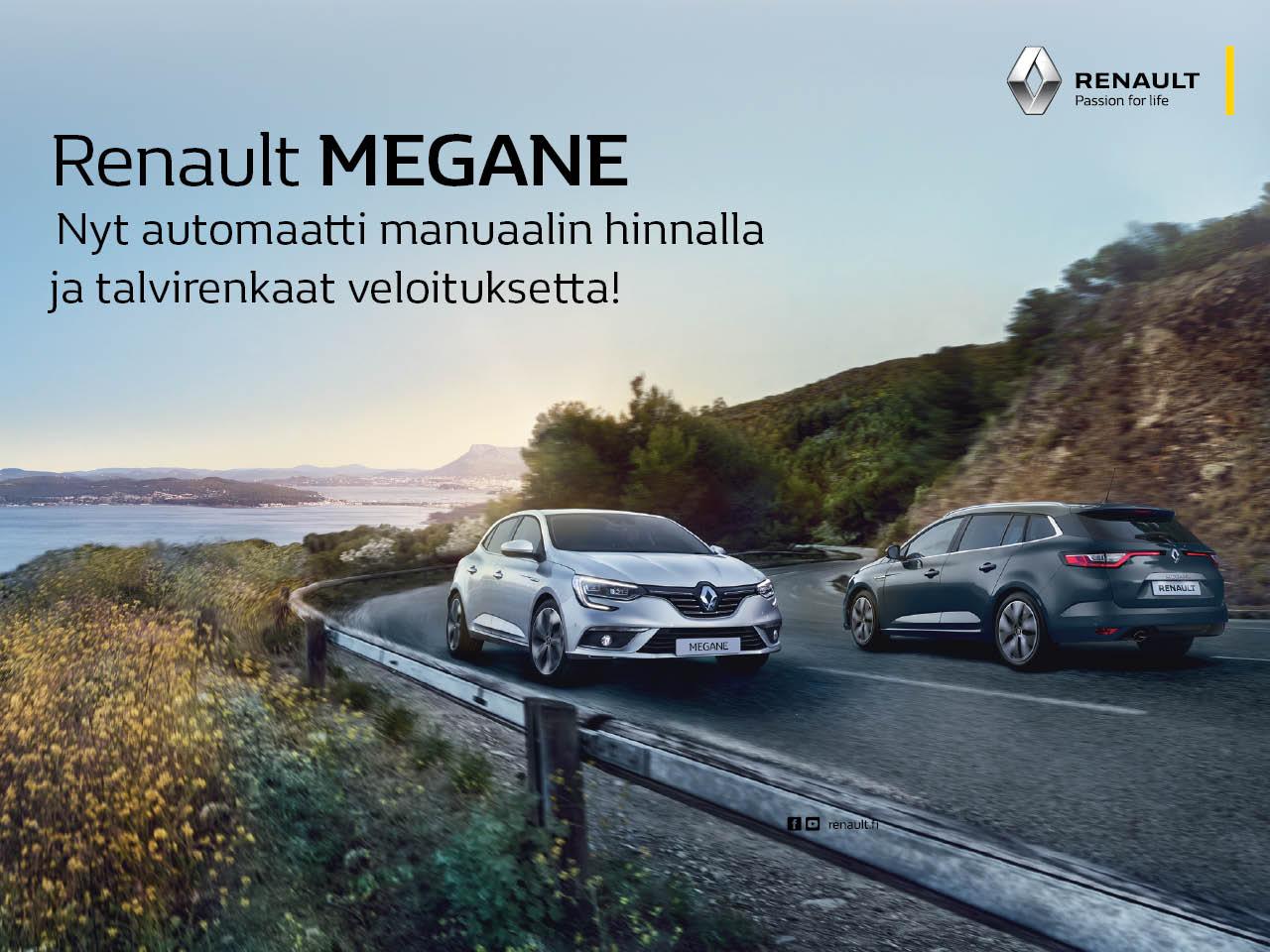 Renault Megane - automaattivaihteisto ja talvirenkaat 0 €