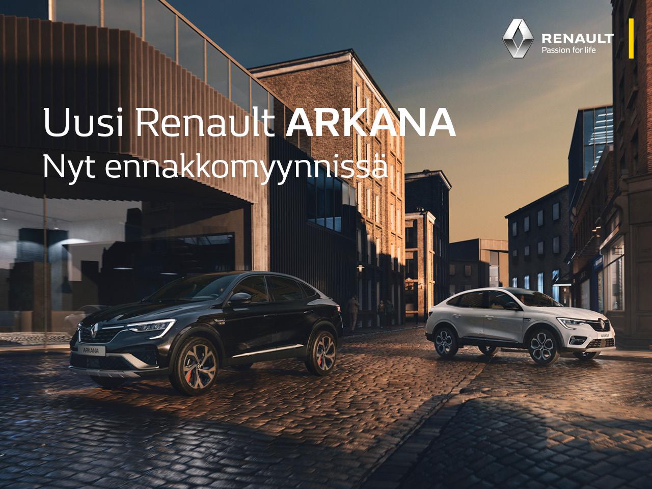 Renault Arkana nyt ennakkomyynnissä