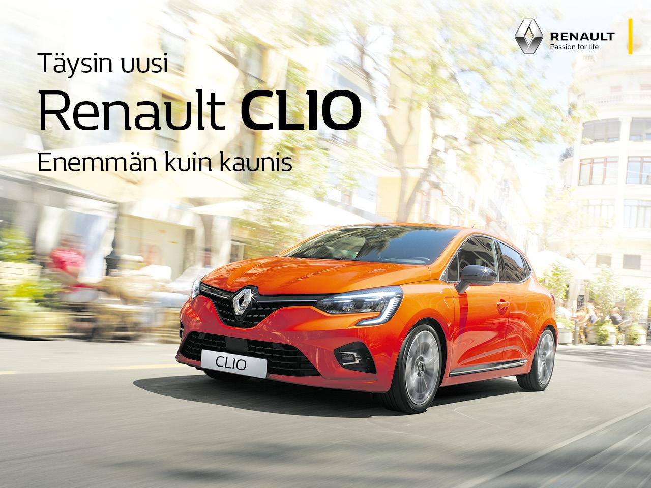 Uusi Renault Clio: varustetason korotus veloituksetta