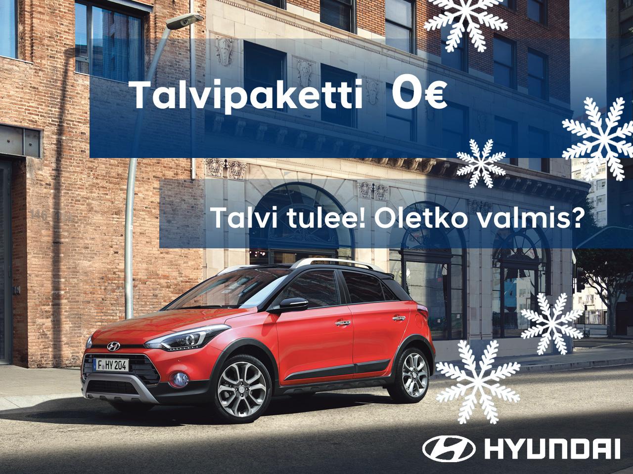 Erään Hyundai i20 ja i30 malleja talvipaketti 0 €