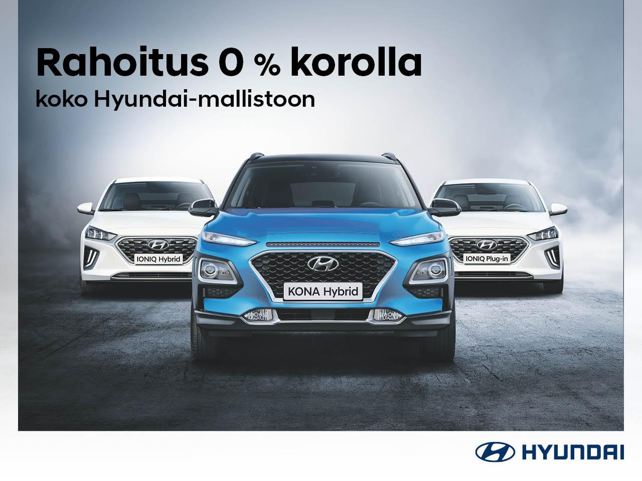 Rahoitus 0 % korolla koko Hyundai-mallistoon