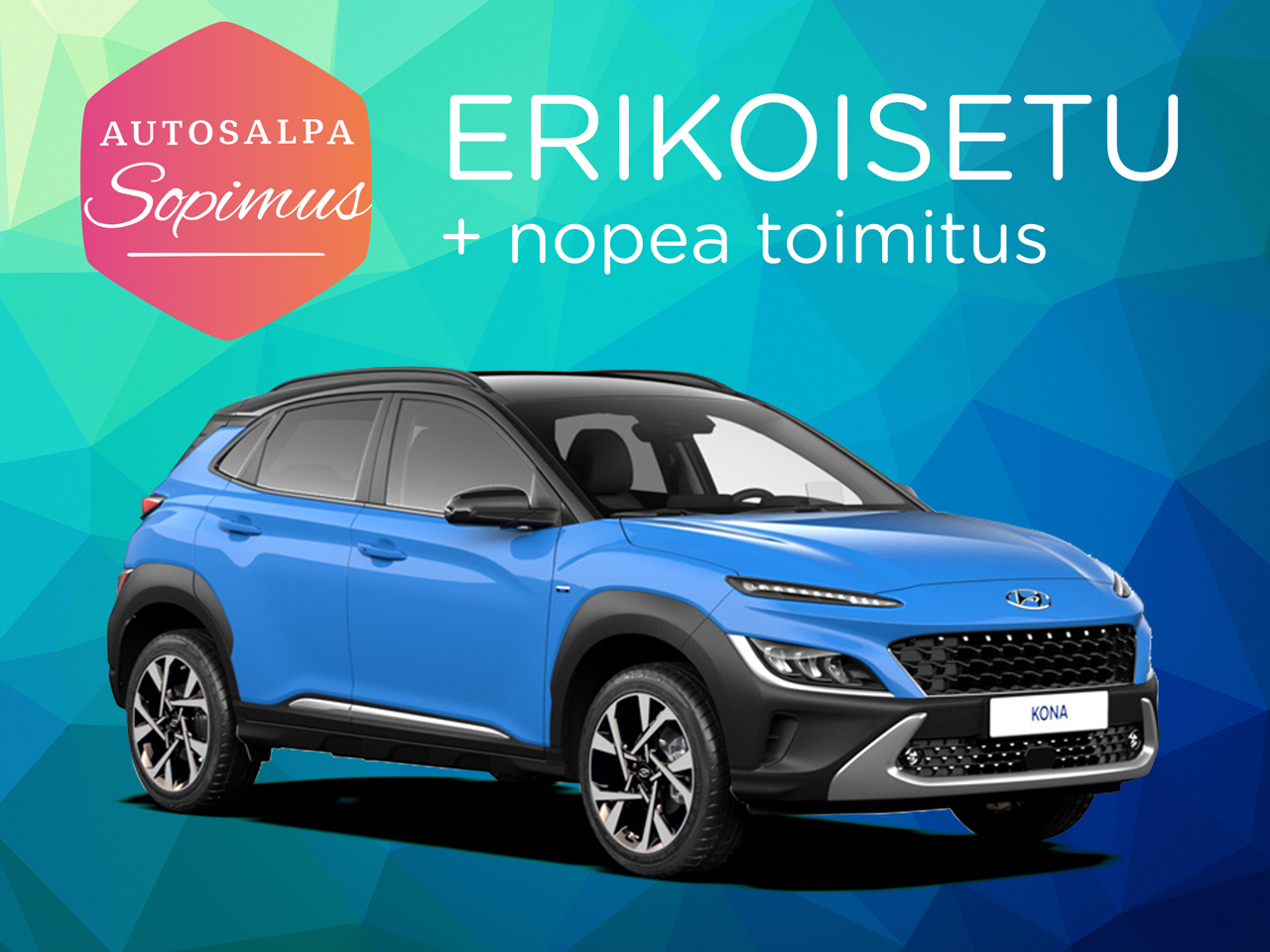 ERÄ: Hyundai Kona 1.0 T-GDI Comfort. esim. 279 € / kk