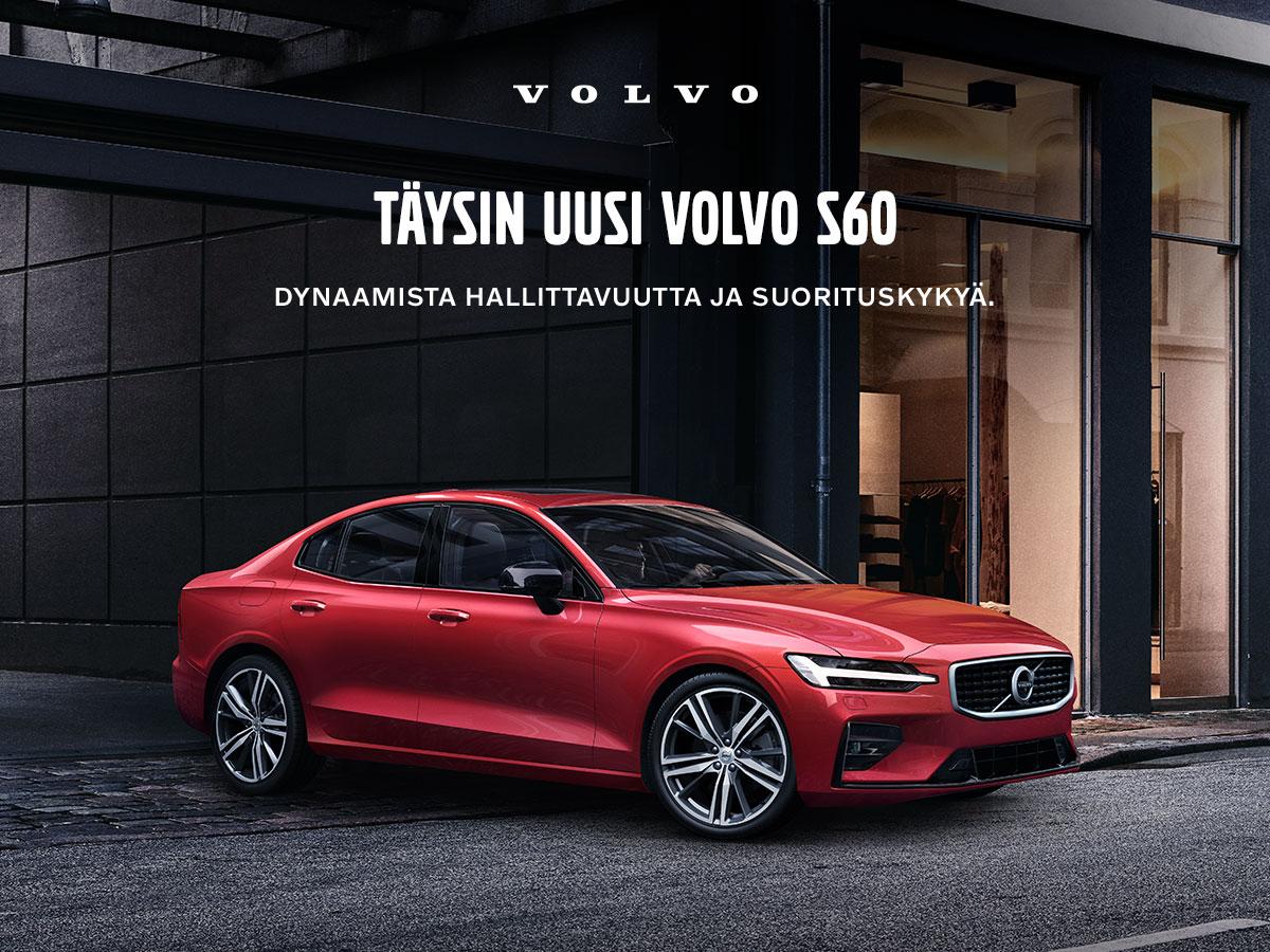 Täysin uusi Volvo S60 nyt ennakkomyynnissä